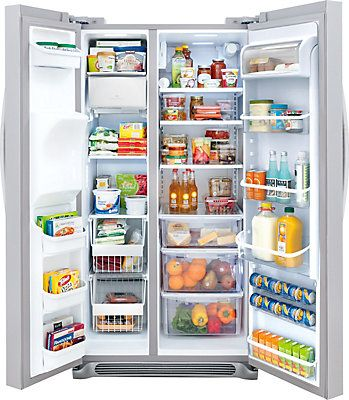 Frigidaire Gallery Gallery 22.2 cu. ft. Counter Depth Side-by-Side Refrigerator in Stainless Steel   The Home Depot Canada