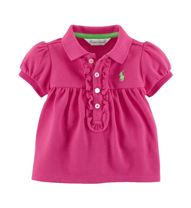 Ralph Lauren Baby Girl Cotton Mesh Polo Pink. What a great addition to any baby girl's wardrobe. Also makes a great present! http://www.brandsforkids.com.au/collections/baby-girl/products/ralph-lauren-baby-girl-cotton-mesh-polo-pink