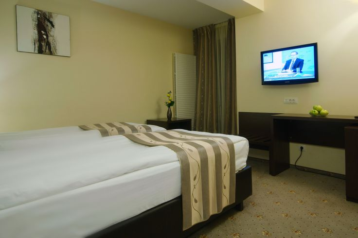 Standard Room: These rooms are comfy, with warm and cozy atmosphere in combination with the earthy tones.They make an ideal retreat for the business traveler by guaranteeing a fantastic night's sleep.The Standard  Room is available with a Queen Size Bed or Twin beds. Accommodates up to two guests. The surface is approximately 16 m².