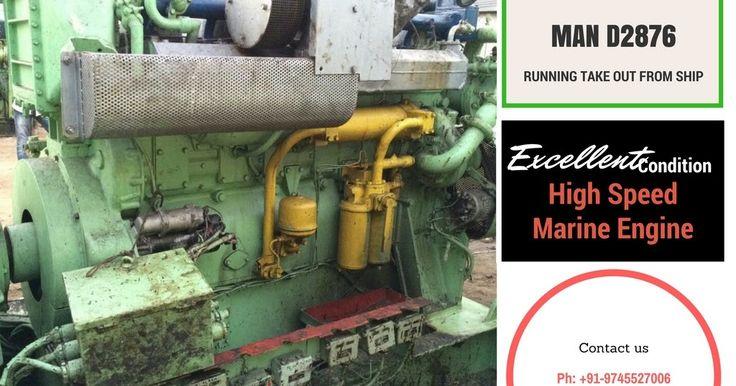 MAN D2876 Marine Engine for sale  www.sta.cr/2OPZ2 #MAN #D2876 #marineengines #usedtransmission #shipbreaking #yards