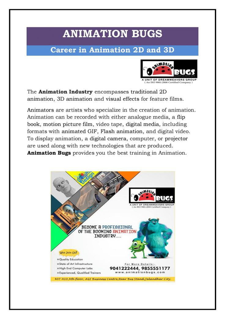 If you want to make a career in animation, join Animation Bugs. We are the Best Animation Institute in Jalandhar. We target to provide high quality and complete study material in depth. We make students able to get their dream job immediately after completion of their successful course. We have highly dedicated and professional trainers who put their best efforts on students to prepare them for their bright career ahead. They give the opportunity to students for enhancing their skills.
