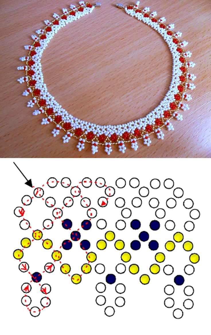 Free pattern for necklace Sicily 10/0 – 11/ 0 (also possible use 13/0-15/0)