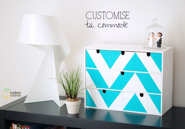 DIY : Customise ta mini-commode (IKEA hack)