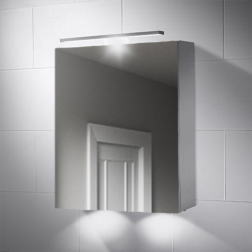 500x600mm Hadley Led Illuminated Bathroom Mirror Cabinet Bathroom Mirror Cabinet Mirror Cabinets Bathroom Mirror