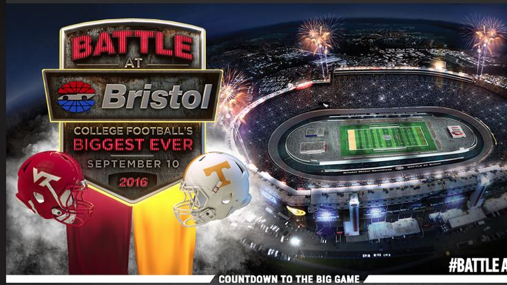 """Tennessee-Virginia Tech calling Battle at Bristol """"the biggest ..."""