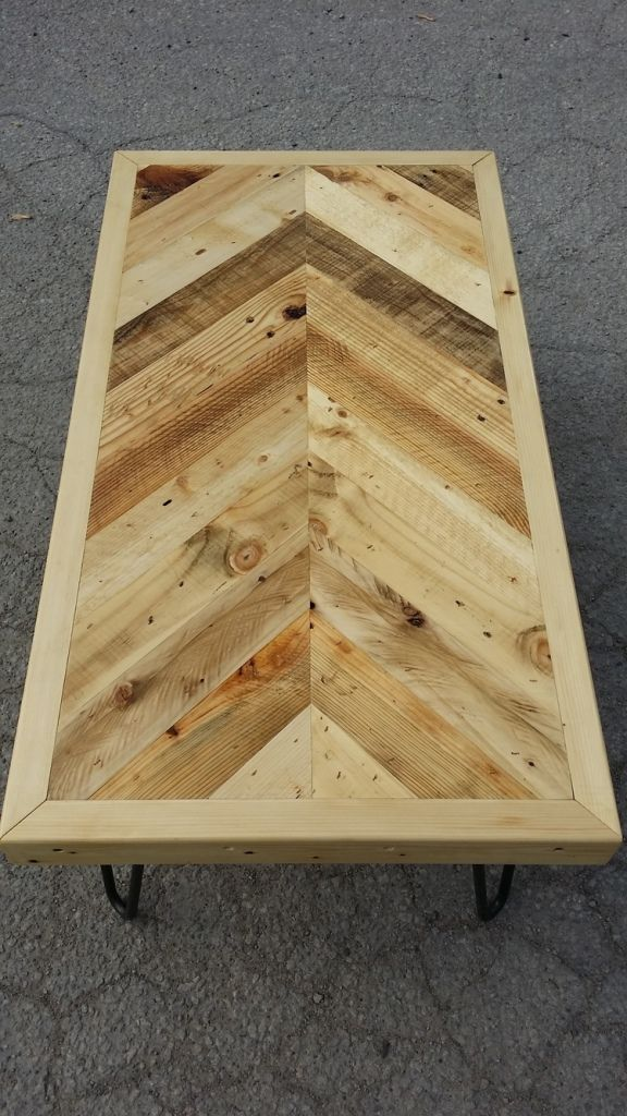 Pallet Wood Herringbone Coffee Table Son Of A Woodcutter