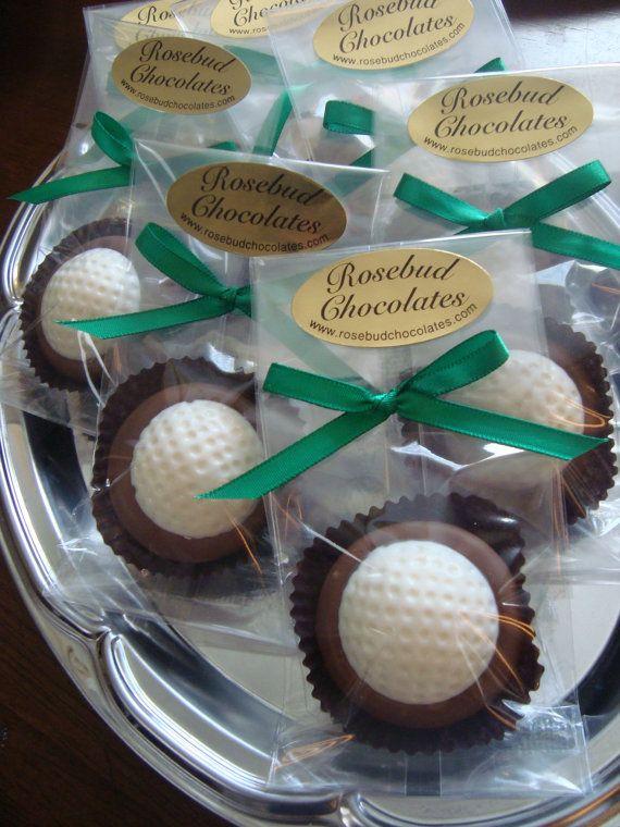 12 Milk Chocolate Dipped Oreo Cookies Golf by rosebudchocolates,