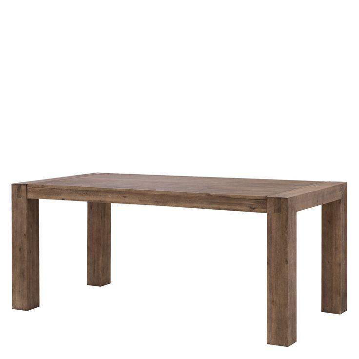 STÓŁ HAMBURG  Stół Hamburg to mebel stworzony dla pasjonatów prawdziwego drewna i klasycznych form. Niepowtarzalny wygląd drewna akacjowego sprawia, że nikt nie przejdzie obojętnie. Zastosowana listwa boczna bryły przechodzi w charakterystyczną nóżkę, nadając oryginalną formę. Solidny i stabilny stół do jadalni z kolekcji Hamburg z pewnością wystarczy na sporą liczbę gości.         WYKOŃCZENIE  Blat stołu jest wykonany są z litego drewna akacjowego.