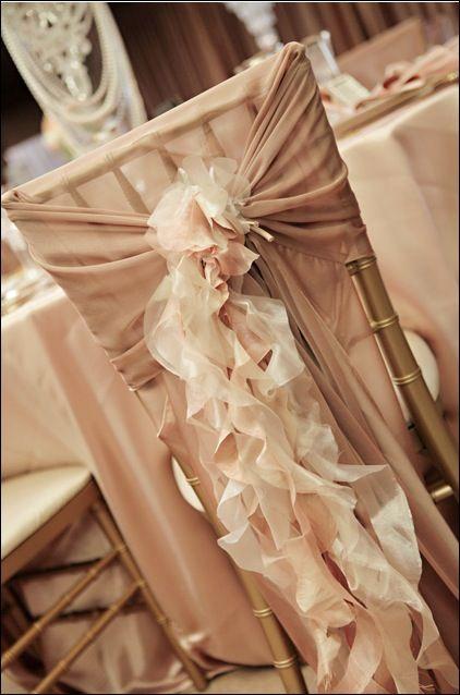 DIY wedding chair sash