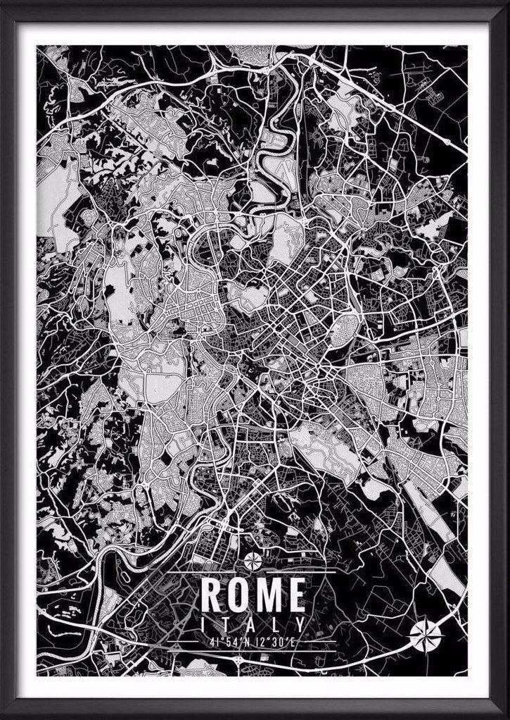 Rome Italy Map with Coordinates - Ideate Create Studio