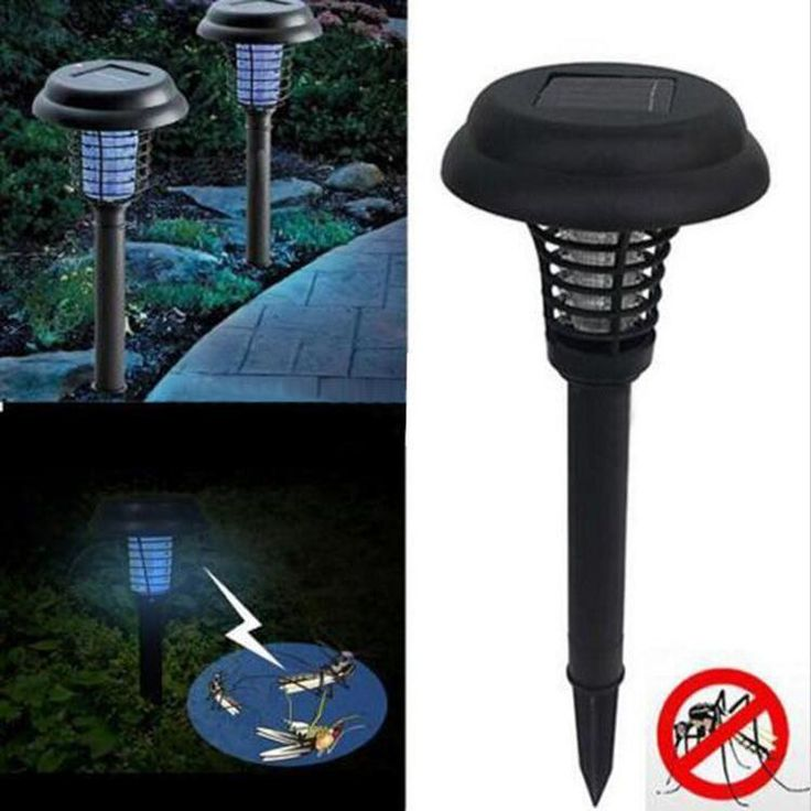 LED Solar Powered Outdoor Garden Anti-Mosquito Bugs Insect Fly Lamps Light