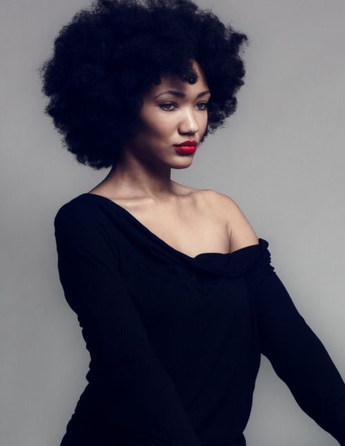 ...: Natural Beautiful, Coiffures Projects, Red Lips, Portraits Photography, Photo Projects, Big Hair, Natural Hair, Photography Studios, Black Women