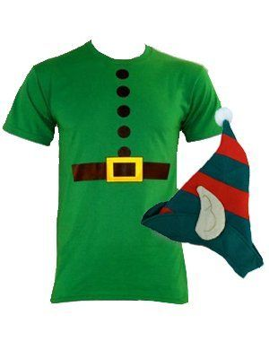 DIY elf costume- just a link to a picture, but could probably whip something up from this...