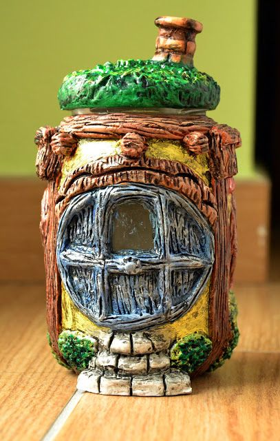 Creativity of Fià: Casa hobbit: porta azzurra