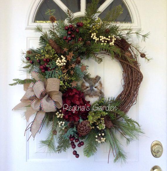 25 Unique Owl Wreaths Ideas On Pinterest Fall Door