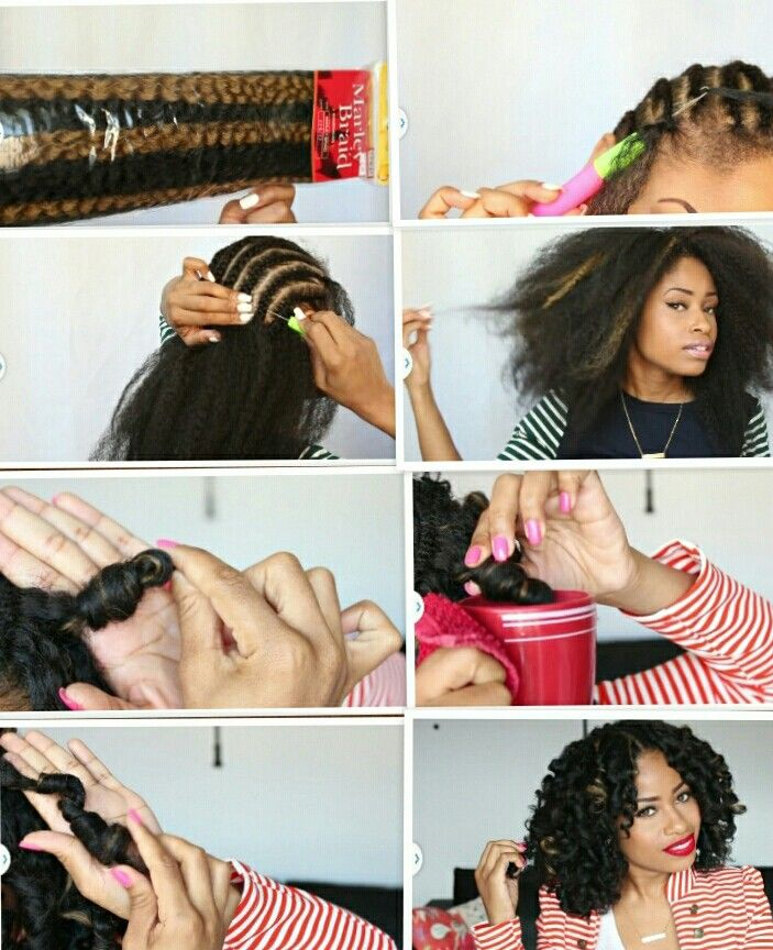 """Crochet braids using marley hair. By YouTube blogger """"The Chic Natural"""""""