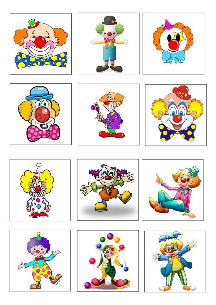 loto des clowns planche 2 à imprimer 2 fois