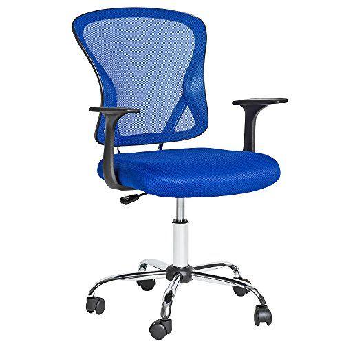 Siempre las cosas más últiles para tu hogar: TecTake Silla de oficina giratoria sillón ejecutivo silla de escritorio azul tejid #homedecor #garden #hogar #jardin #decoracion