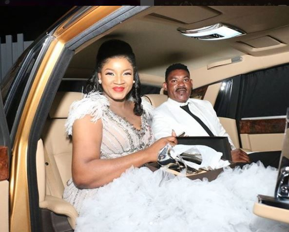 Omotola 4 Point 0: The Golden Rolls Royce That Has Got People Talking