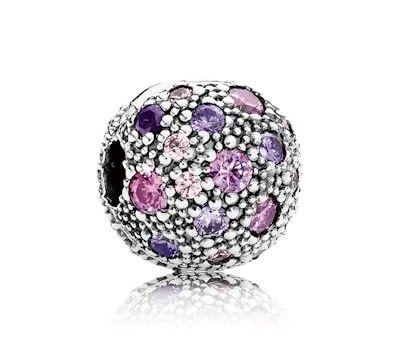 Pandora Fancy Purple Cosmic Stars Clip Charm | www.goldcasters.com