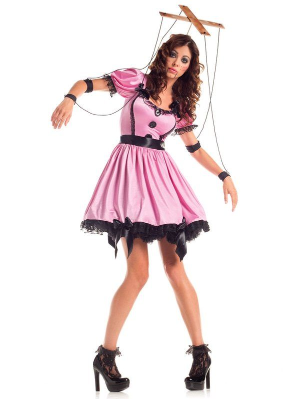 Halloween Pink Marionette Costume Adult