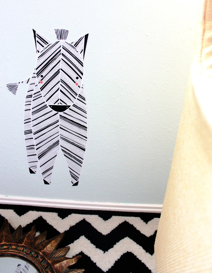 Zebra Reusable Fabric Wall Decal