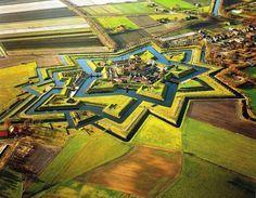 The Netherlands Star Fort - Fort- Bourtange, Groningen, Netherlands.