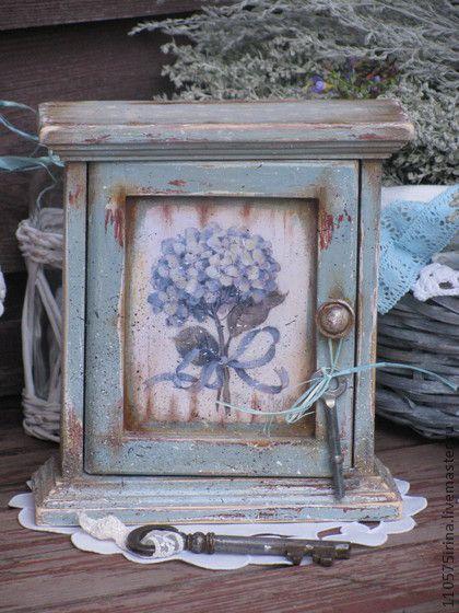 `Hortensia...` Ключница.. Деревянная ключница в стиле Прованс. Красивая и…