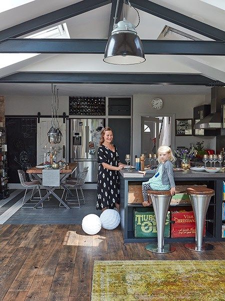 browning family industrial style kitchen extension