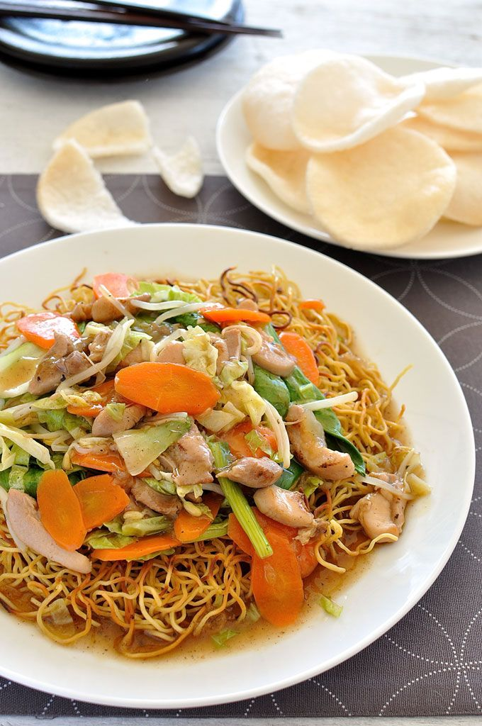 Crispy pan fried noodles topped with a saucy stir fry. On the table in 20 minutes.