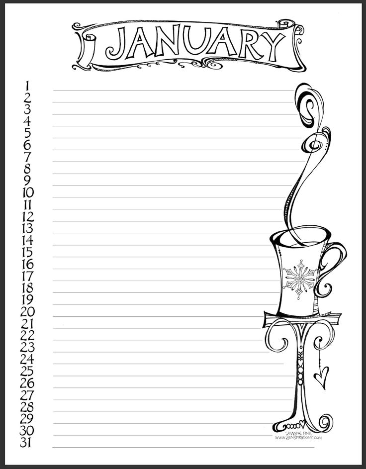 Check out the FREE DOWNLOADABLE Calendar Coloring Page on this week's Zenspirations blog! zenspirations_by_joanne_fink_new_year_blog_2016_calendar