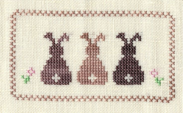 Easter Bunny Große Stitching / Hase Ostern Osterhase Kreuzstich