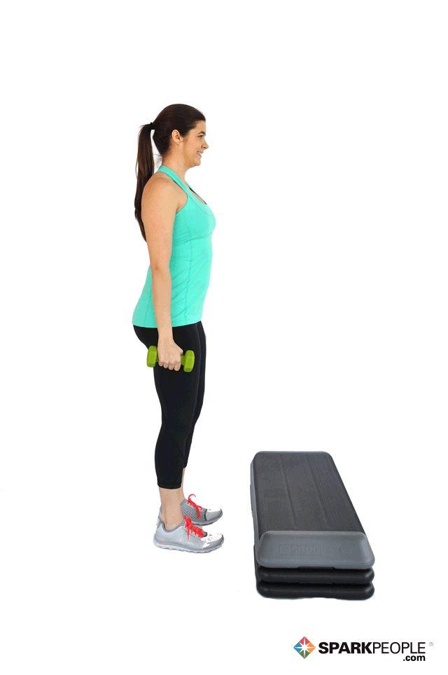 Step-Ups Exercise Demonstration via @SparkPeople