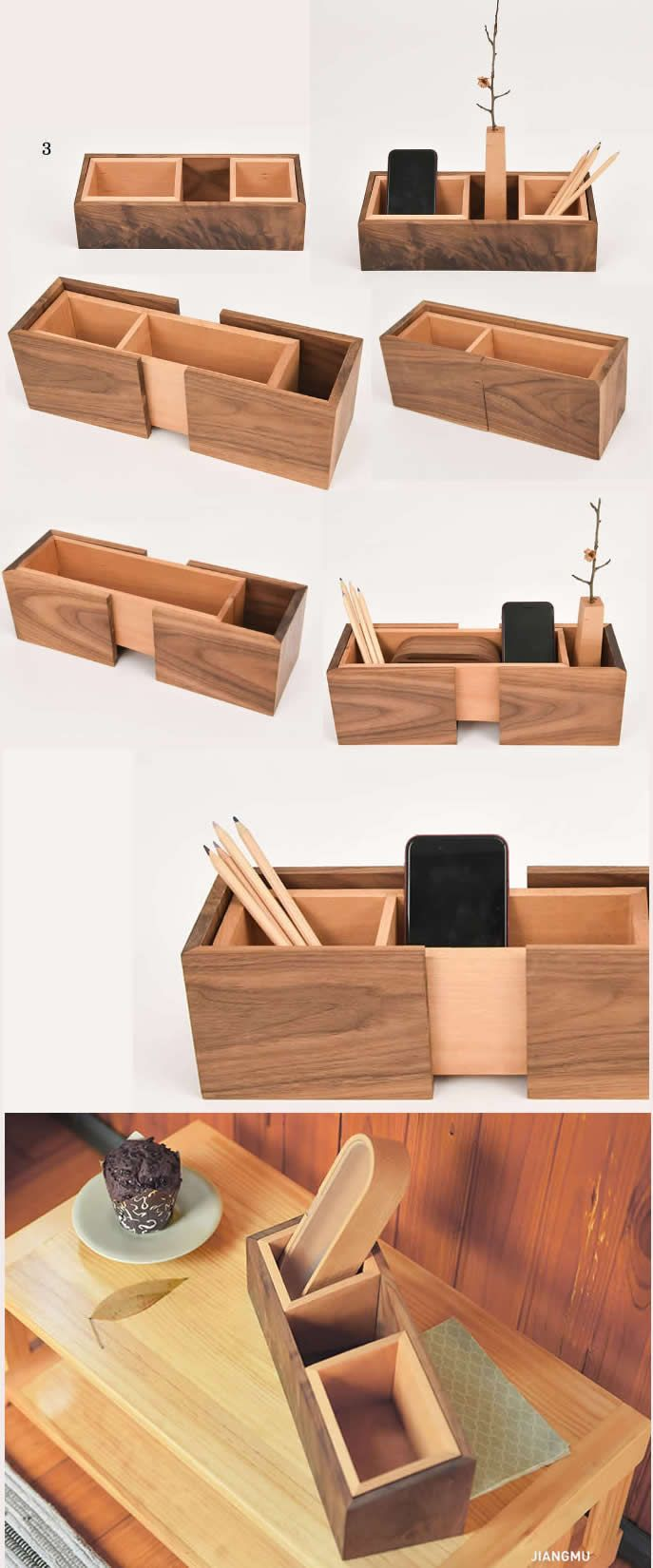 Creative Diy Desk Organizer Ideas To Make Your Desk Cute Bamboo Wooden Office Desk Organizer Desk Organization Desk Organization Diy Small Desk Organization