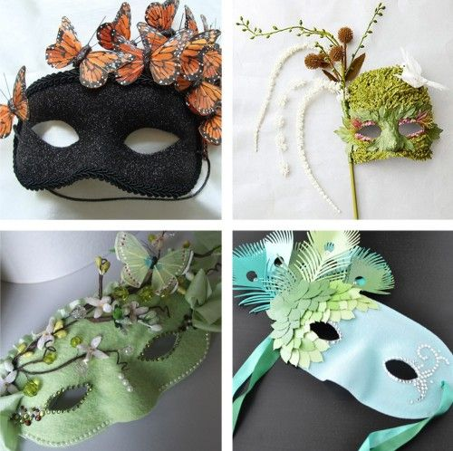 masquerade masks, top four winners for a contest, all handmade.