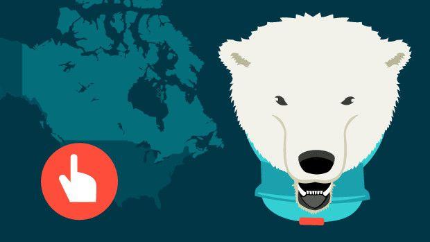 Se selv på et live-kort hvor tæt isbjørnene er på DR's udsendte i Canada.
