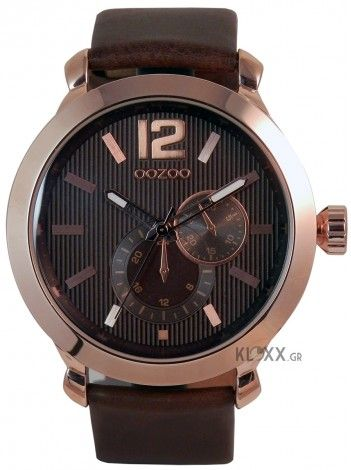 OOZOO timepieces brown leather C6078