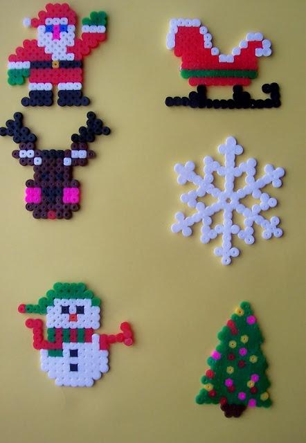 Navidad perlas hama - ILUSIONES SCRAP