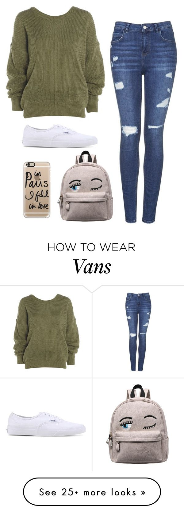 """Basic Bi***"" by tiffanylechner on Polyvore featuring Topshop, Vans and Casetify"