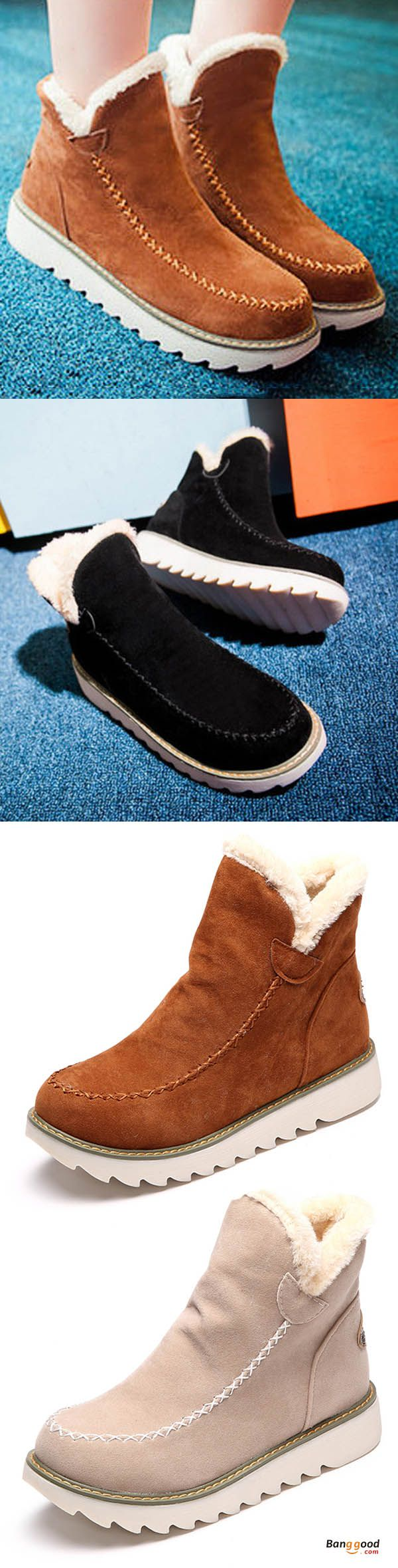 US$38.89 + Free shipping. Big Size Pure Color Warm Fur Lining Winter Ankle Snow Boots For Women. Women's shoes boots, fall winter fashion style, street looks outfits for women. Fall in love with the coming days!