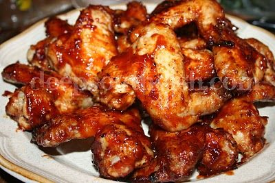 Deep South Dish: Spicy Oven Baked Barbecued Chicken Wings. ☀CQ #party #appetizers  http://www.pinterest.com/CoronaQueen/appetizers-and-football/