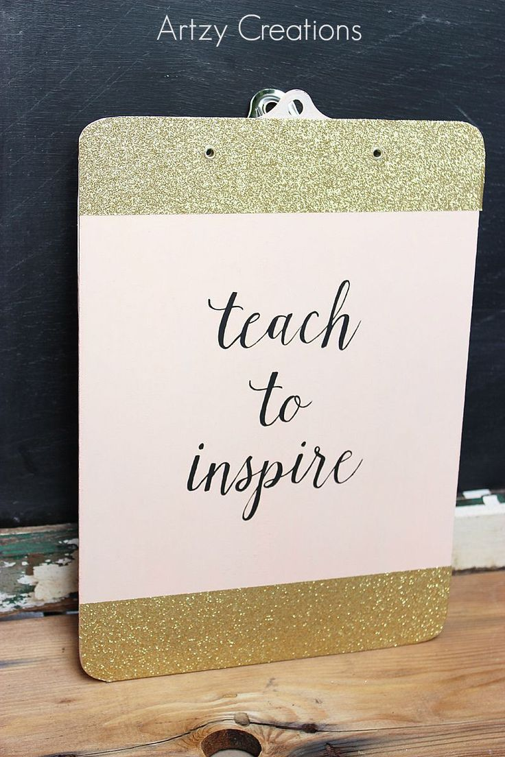 Super Cute Back to School Teacher Clipboard! Perfect gift idea! -- Artzy Creations for Tatertots and Jello