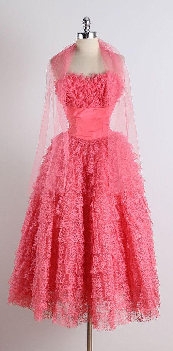 Deepest Heart . vintage 1950s dress . vintage by millstreetvintage