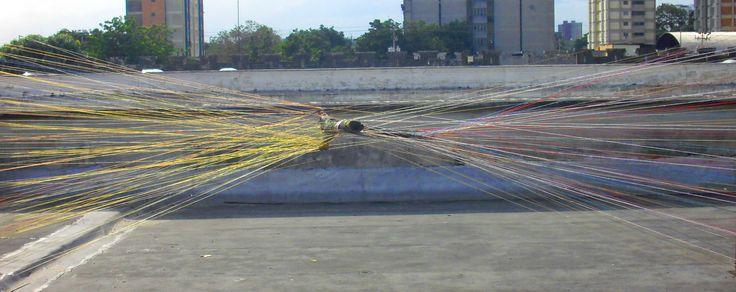 OBRA FINAL #arte #arbol #arbolmuerto #barquisimeto #cabudare #color #instalación #lara #muerte #naturaleza #raizabarros #raizamileva #vida #venezuela