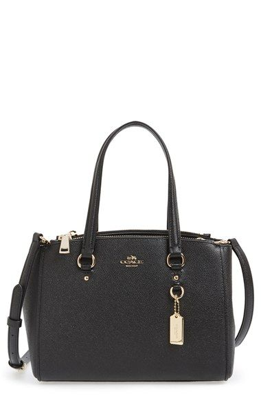 COACH 'Stanton 26' Crossgrain Leather Mini Zip Carryall Bag | Nordstrom