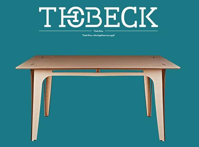 """grafiker.de - """"Tisch Eins"""" - Das zusammensteckbare Leichtgewicht von THOBECK"""