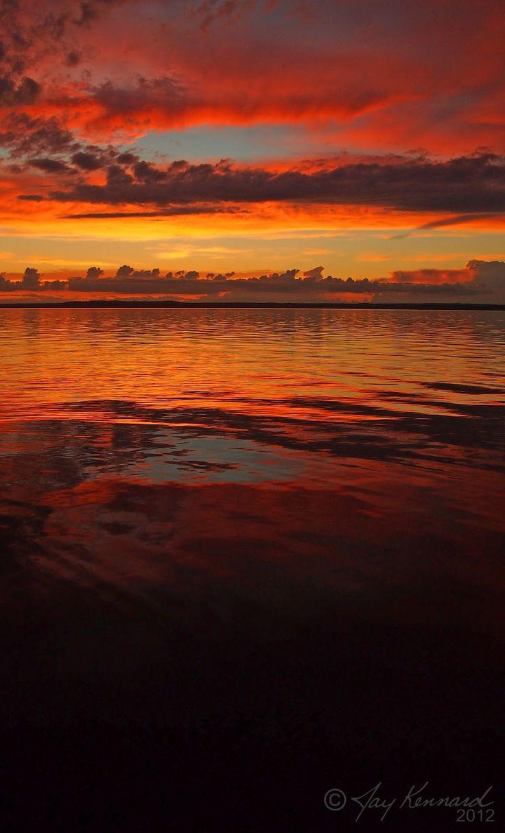 Sunset over Kingsmere Lake in Prince Albert National Park, #Saskatchewan.