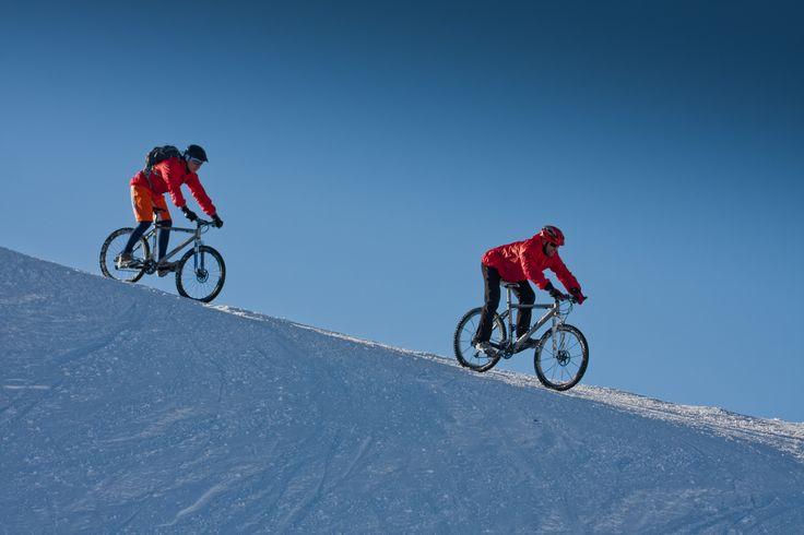 bike it down on snow.
