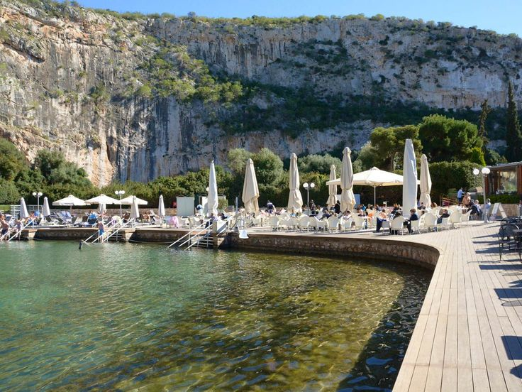 The therapeutic waters of Lake Vouliagmeni | Lonely Planet #AthensCoast #Vouliagmeni