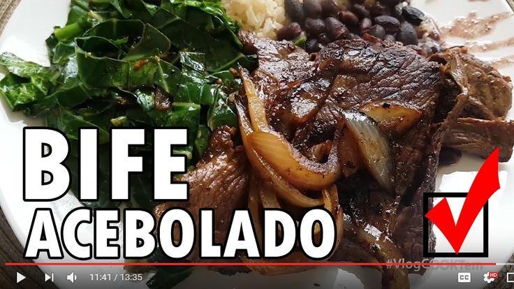 🍳#VlogCOOKTem Ep2: COMO FAZER BIFE ACEBOLADO com COUVE REFOGADA - WebTVBrasileira - YouTube